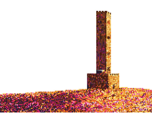 Pixilated Peel Tower