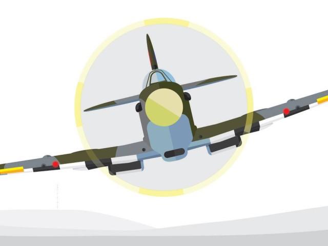 Spitfire over Rammy
